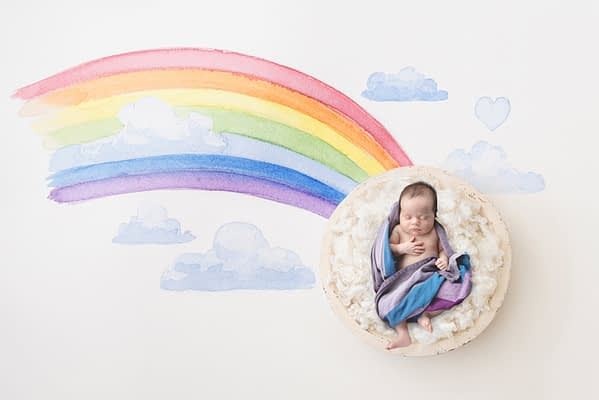 DIY newborn photoshoot, shrewsbury photographer, newborn photoshoot at home, digital backdrop, lockdown photoshoot